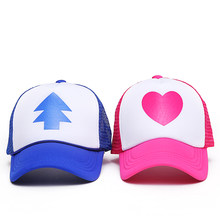VORON 2017 New Spring Summer Gravity Falls U.S Cartoon Mabel Dipper Pines Cosplay Cool Baseball Mesh Caps Adjustable Sport Hat(China)