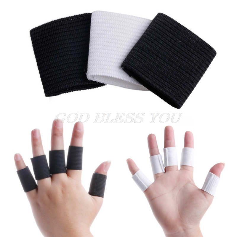 10Pcs Finger Protector Sleeve Support Basketball Volleyball Sports Aid Arthritis Band Wraps Finger Sleeves