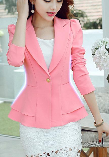 Neue mode frauen blazer frühling slim top elegante single button - Damenbekleidung - Foto 1