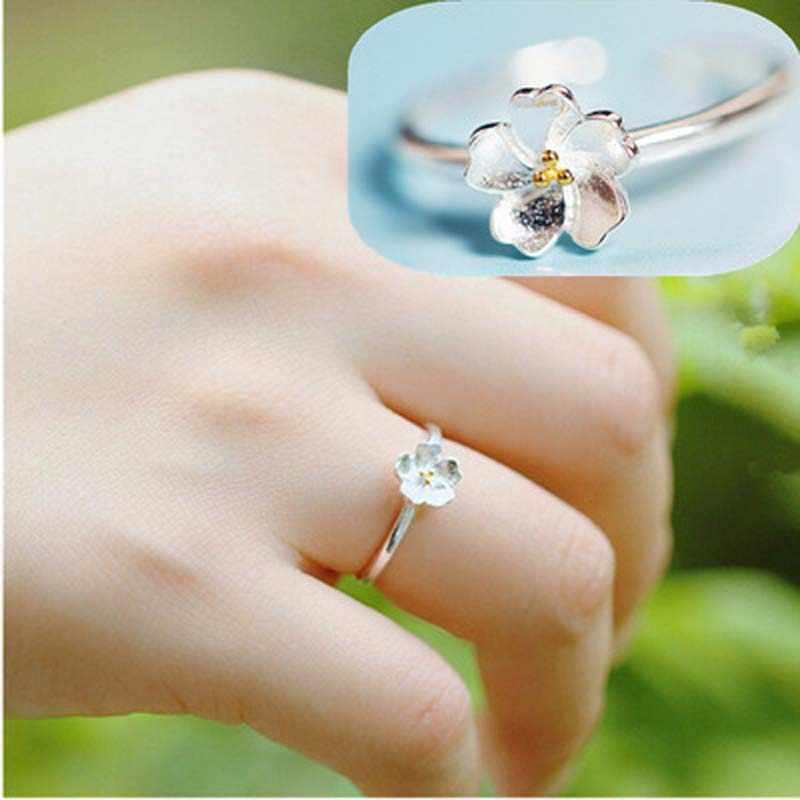 100% Стерлинговое Крыло ангела из серебра 925 пробы Рыбная корона цветок сердце дорогой рога лист звезда кольца для женщин S925 Серебряные ювелирные кольца
