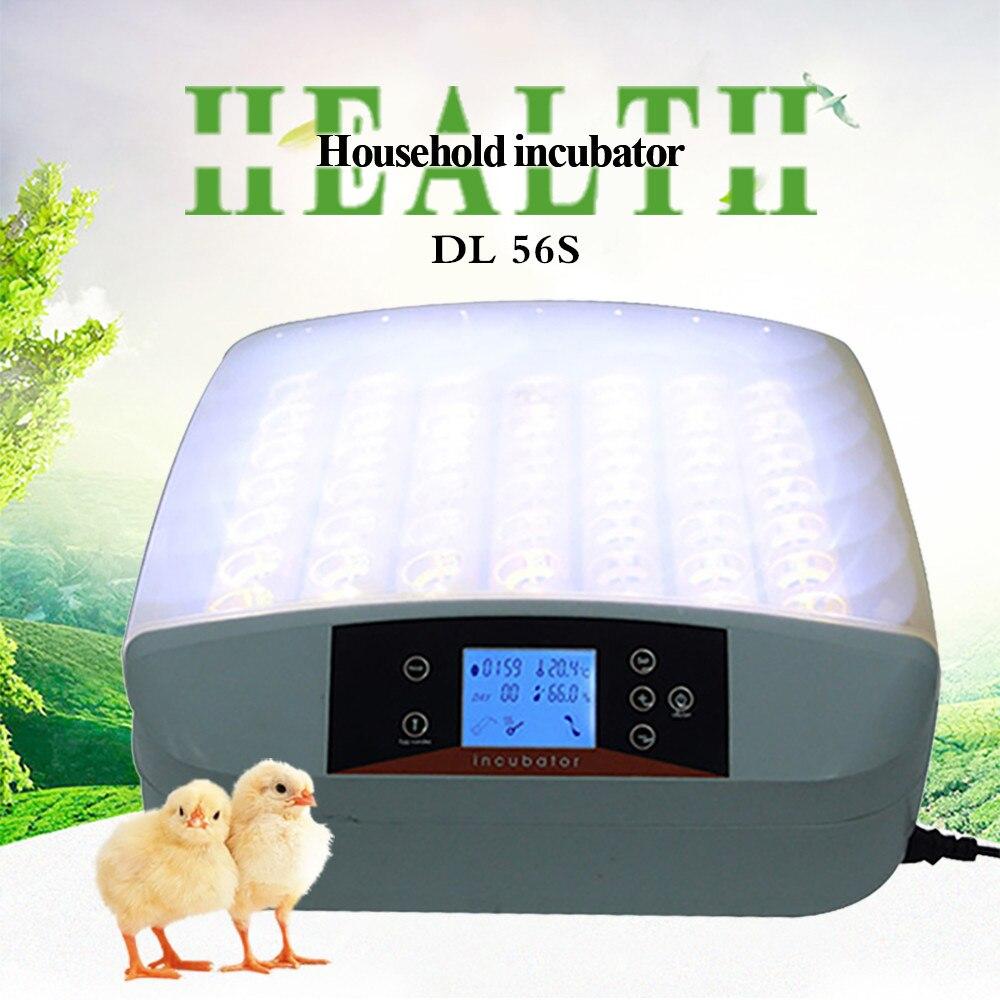 56 Chicken Eggs Incubators High Quality Egg Incubator Automatic Bird Goose Duck LED Display Temperature Control