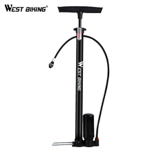 WEST BIKING 150PSI Bicycle Pump High Pressure Tire Inflator MTB Bike Air for Motorcycle Electric Car