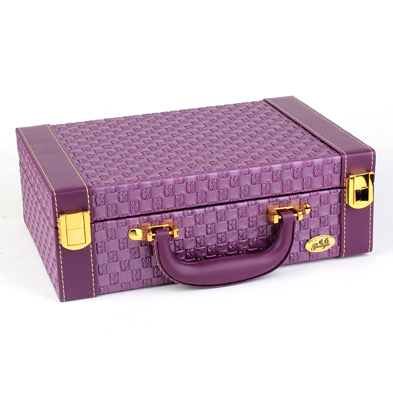 B Fashion Style Leather Jewelry Box Sweet Gift Accessories Display Organizer Carrying Case Casket Boxes Gifts For Women