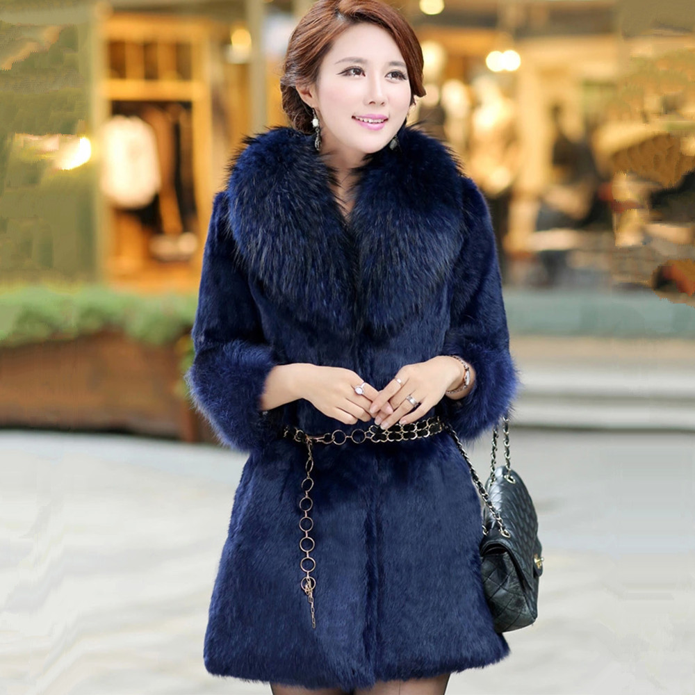 Hot sale 2017 New Women Winter Real Fur Jacket With Raccoon Fur Collar  Genuin Rabbit Fur - Popular Real Fur Coat Sale-Buy Cheap Real Fur Coat Sale Lots From