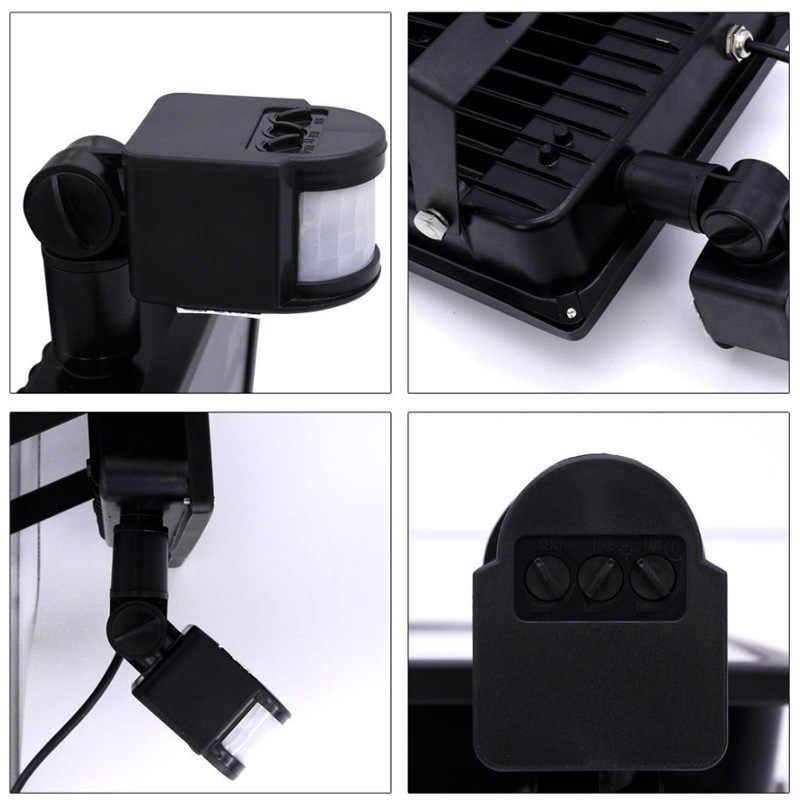 Светодиодный датчик движения 10 W 20 W 30 W 50 W Светодиодный прожекторы с инфракрасным датчиком индукционный датчик отражатель открытый настенный светильник IP66