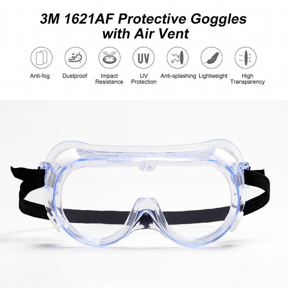 3M 1621AF anti-darbe ve Anti kimyasal sıçrama gözlüğü gözlük güvenlik gözlükleri ekonomi şeffaf Anti-sis lensi göz koruması iş