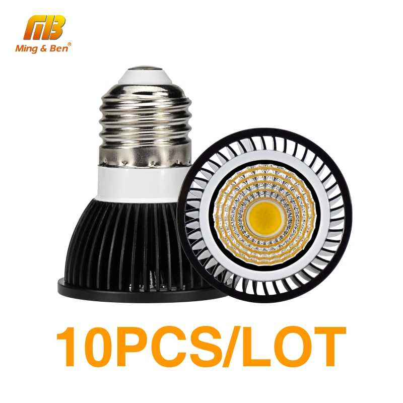 10PCS E27 E14 LED Spotlight GU10 MR16 LED Bulb Light 5W 7W 9W 12W AC 220V LED COB Condenser Lamp Diffusion LED Bombilla Bulb