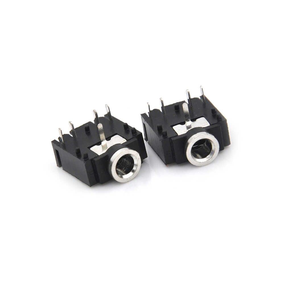 "10 Pcs 3.5 Mm 1/8 ""Female Konektor Audio 5Pin Stereo Headphone JACK PCB Gunung Grosir"
