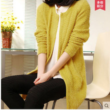 Free Shipping Women'S Spring Cardigan Sweater Loose Long Sleeves Multi-Color Knitted Sweater Coat Brand New Clothings S/L S1655