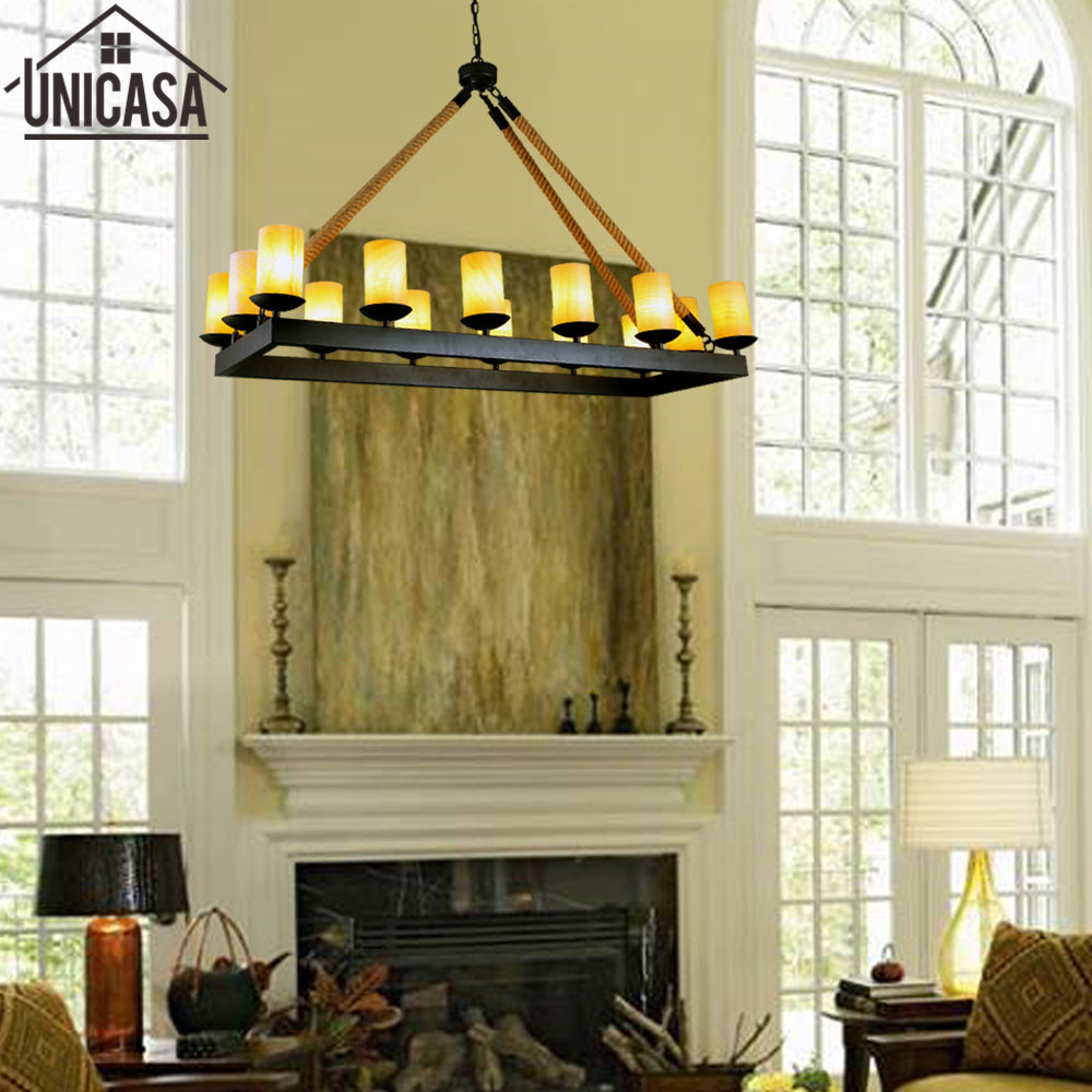 Large chandelier Marble ceiling lights elegant Modern refectory stone loft Nordic natural country villa lighting for Art deco