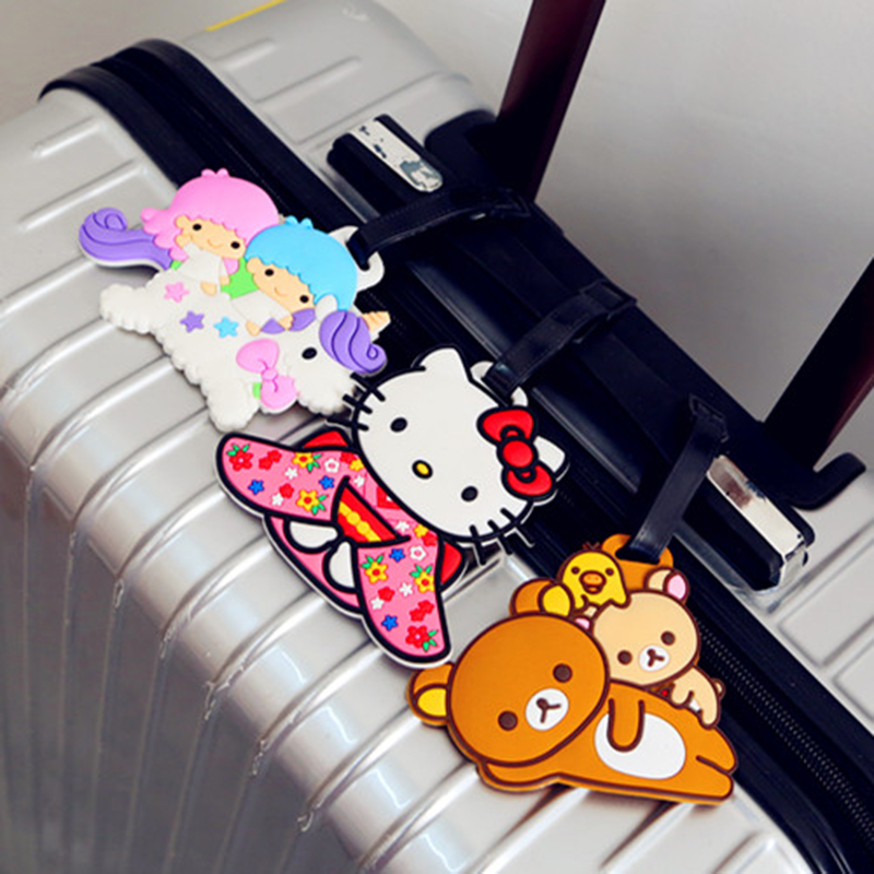 Duffy Bear Little Twin Star Totoro Cinnamoro Silicone Luggage tag Airplane ID Suitcase ID Address Name Labels Travel Accessories
