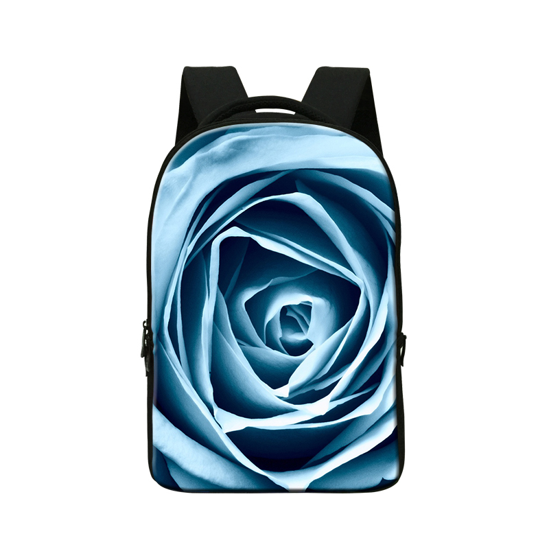 School Smart Youth Backpack with Inside Pocket for college fashion bags for teenager girls 3D rose
