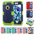 New For Coque iPhone 5S Case Colorful 3 in 1 High Impact Heavy Duty Hard Rugged Rubber Case Cover for iPhone 5 5S Funda 9 Color