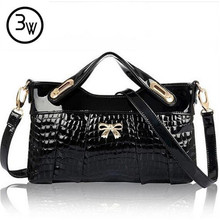 3 W Designer Handbags Women Leather Crocodile Bag For Women font b Party b font Evening