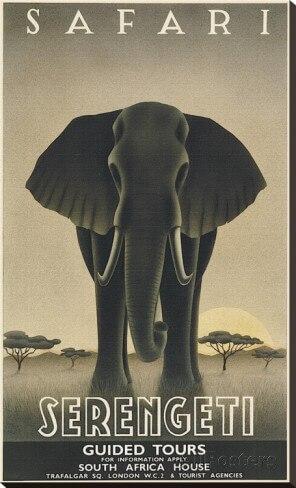 serengeti africa african propaganda vintage travel poster retro decorative diy wall stickers art home bar posters african decor furniture