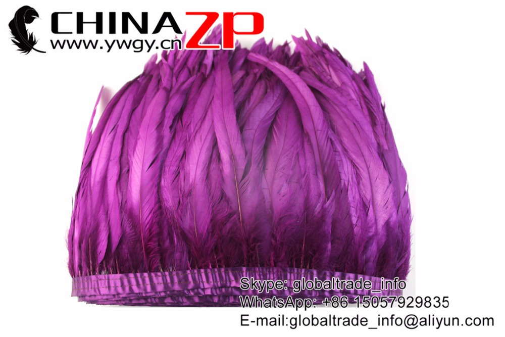 purple Rooster Tail Feather Fringe Trim (5)
