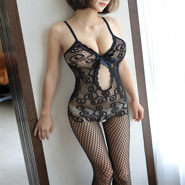 Sexy Mesh Novelty & Special Use Sexy Clothing Sexy Underwear Exotic Apparel Jumpsuit Full Body Stockings Teddies & Bodysuits 6