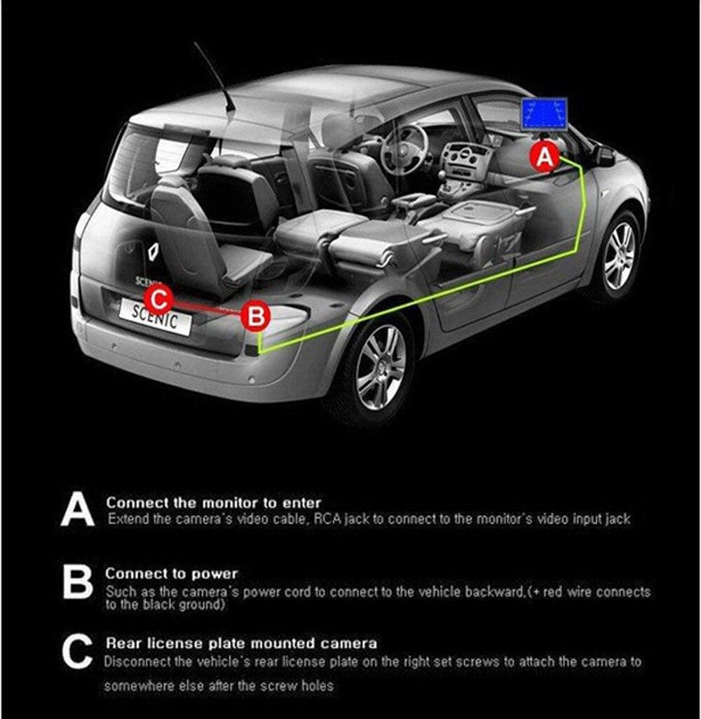 HD автомобиля Обратный камера Универсальный водостойкий Автомобильная камера заднего вида Реверсивный для всех автомобилей продвижение