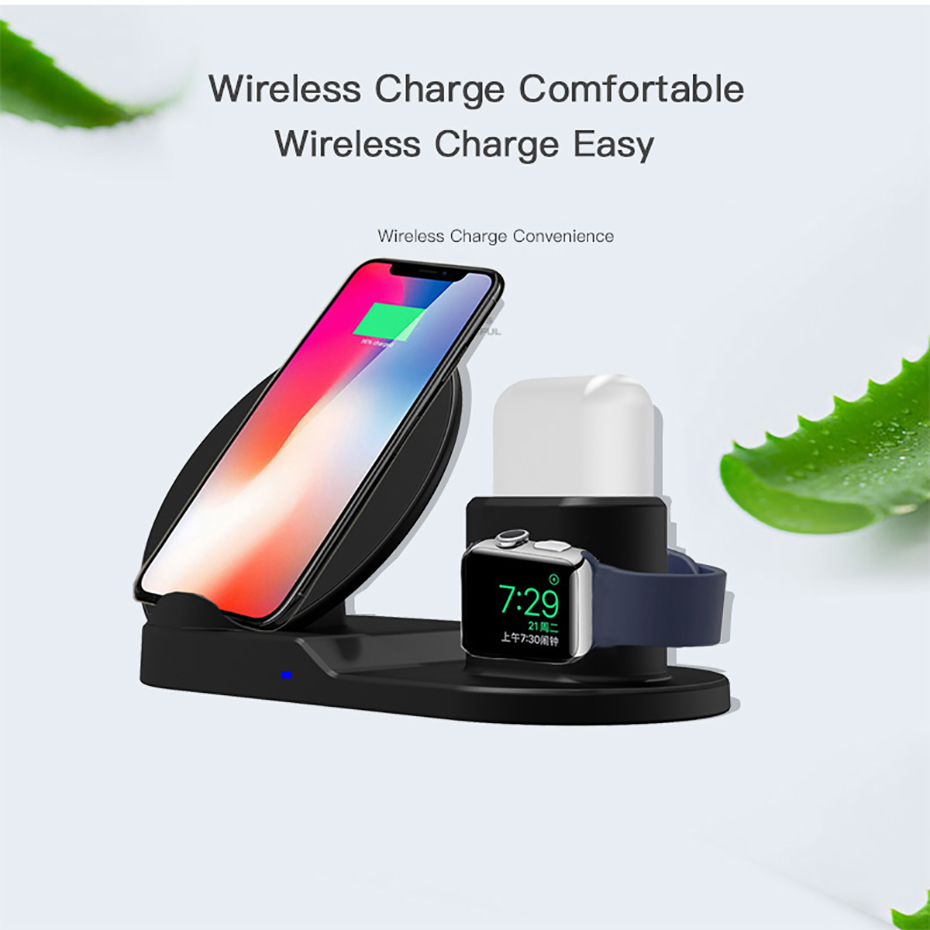 Fast Charge Wireless Charger For Iphone XS XR XS Max 3 In 1 Wireless Charger Dock Station For Apple Watch Series 1 2 3 4 Airpods (12)