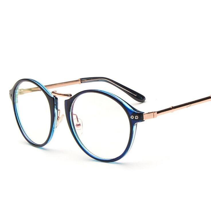 ⑥Vintage metal óptico círculo Marcos marca diseñador moda ojo Gafas ...