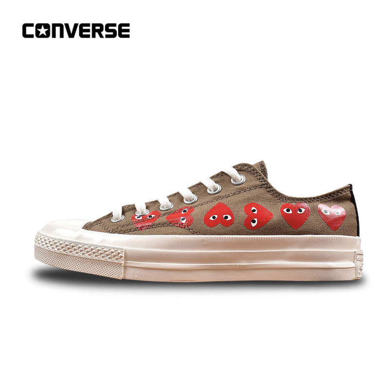 fe66c5a3d5b Converse All Star CDG X Chuck Taylor 1970s HiOX 18SS Skateboarding Shoes  Sport Gray Authentic For Men And Women Unisex