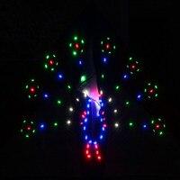 Бесплатная доставка высокого качества 3sq. m 208 P Светодиодная лампа Светодиодная кайт Павлин распространение воздушных змеев Летающие игруш