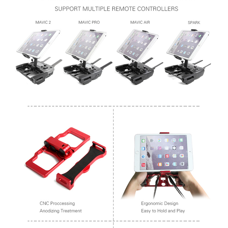 5.5 7.9 9.7 inch phone tablet holder Aluminum Alloy Bracket clip for dji mavic 2 pro zoom spark mavic pro 1 air mavic min drone - 2