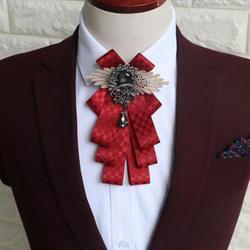 Роскошный мужской свадебный галстук-бабочка Уникальный Бриллиант с сеткой тканевый галстук-бабочка