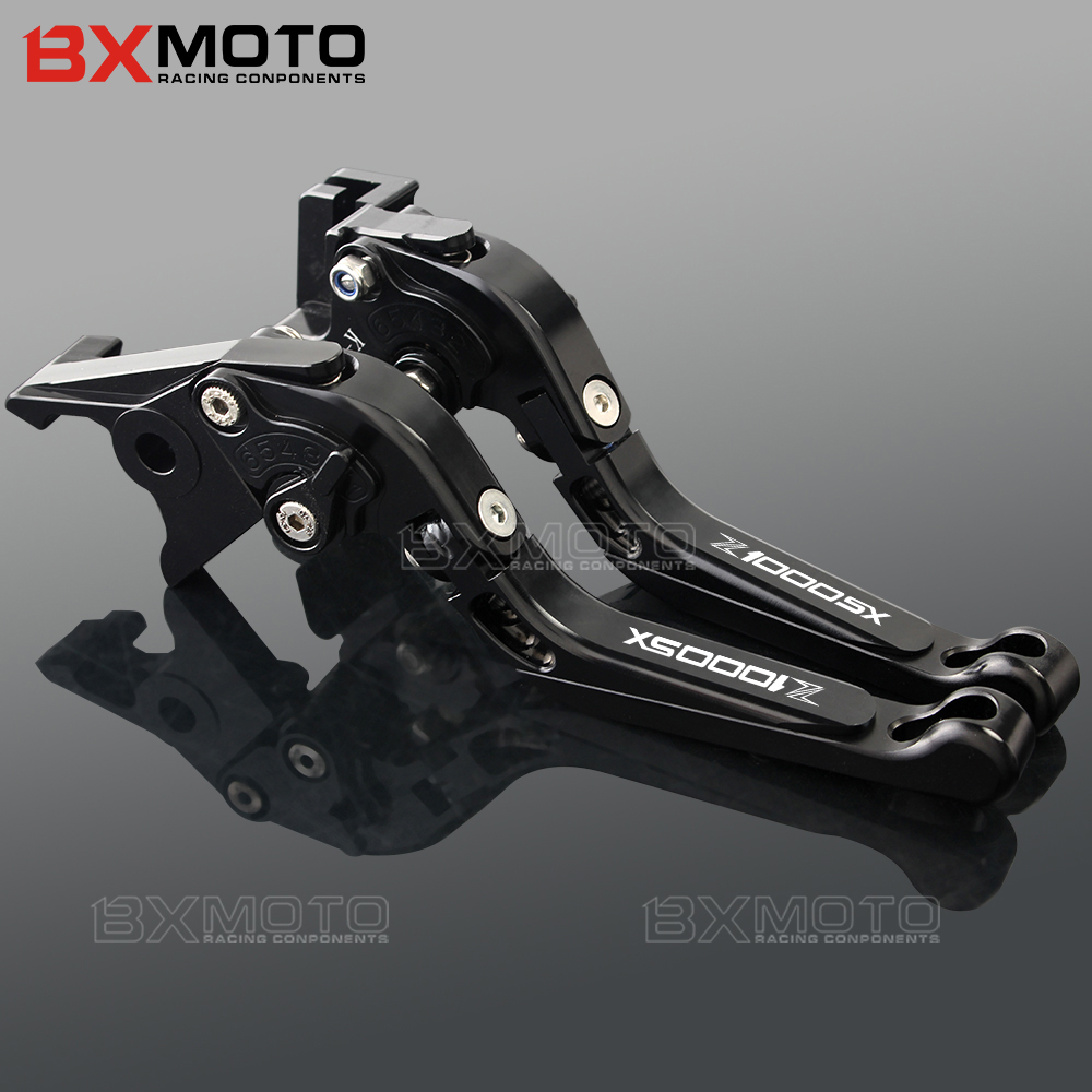 BXMOTO For Kawasaki Z1000SX/NINJA 1000 Z1000 SX 2011-2016 2017 Motorcycle CNC Accessories Black Cnc Brake Clutch Lever Set mtkracing cnc short adjusterable brake clutch lever for kawasaki zx6r 636 zx10r z1000sx ninja 1000 tourer z1000 z750r