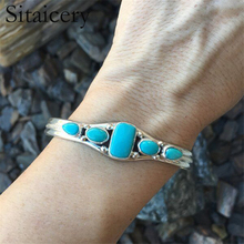 Sitaicery New Boho Colorful Turquoises Beads Bracelet for Women Men Metal Copper Resin Natural Stone Bead Charm Ethnic