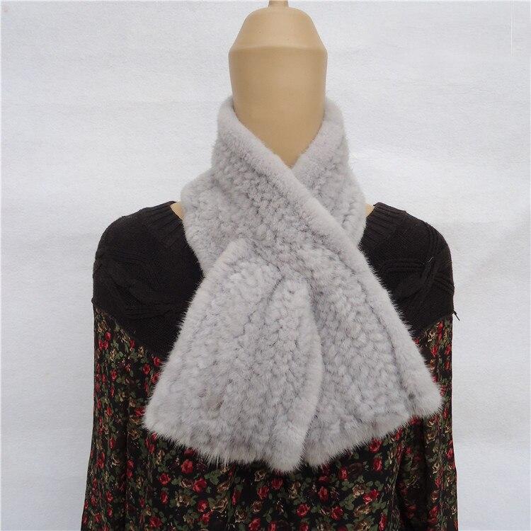 76d9bcd70c60 Echarpes Cache Vison Fourrure Femmes Crochet Wrap Vintage Tricoté De cou  Écharpe Collier zUfqw