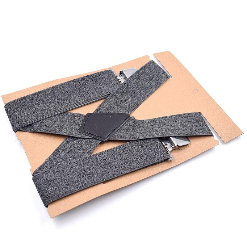 4 Clips Width 5 CM Mens Adjustable Suspenders Straps Wedding Birthday Groom Groomsmen Suspenders Mens Casual Braces