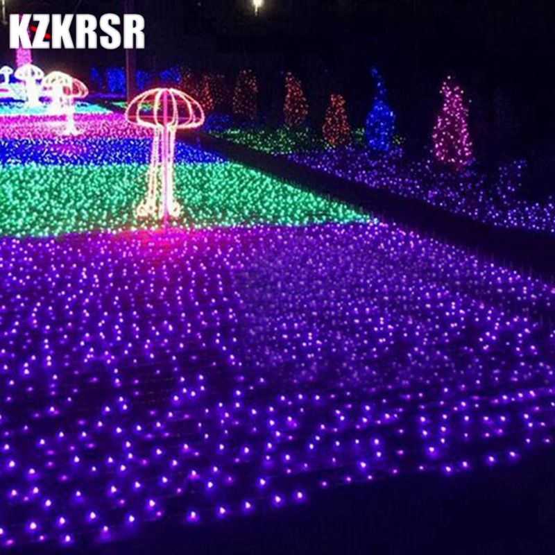 все цены на KZKRSR 4mx6m 700 Led 8 modes 220V Super Bright Net Mesh String Light Xmas Christmas New Year Garden Lawn Wedding Holiday Lamp онлайн