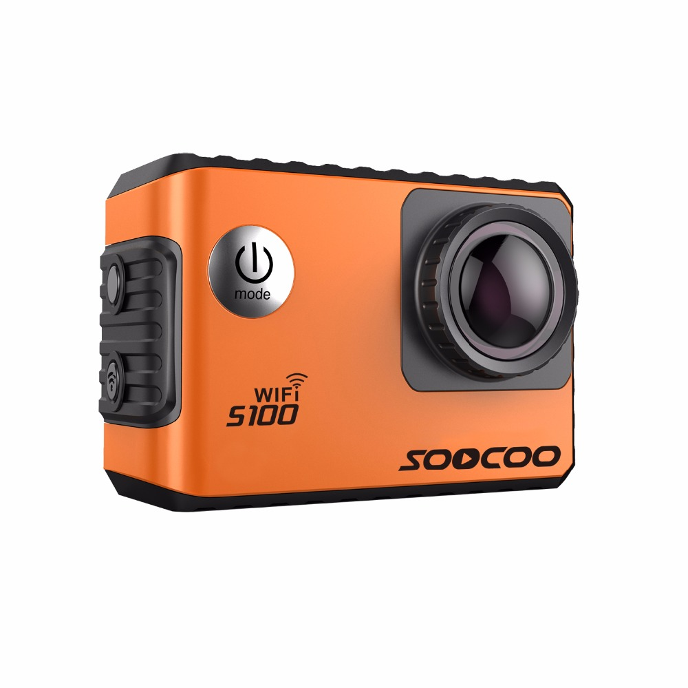 SOOCOO S100 Wifi Action Sports Camera 2.0 4K 24FPS 30M Waterproof DV Built-in Gyro with GPS Extension (GPS Model Not include) soocoo c30 sports action camera wifi 4k gyro 2 0 lcd ntk96660 30m waterproof adjustable viewing angles