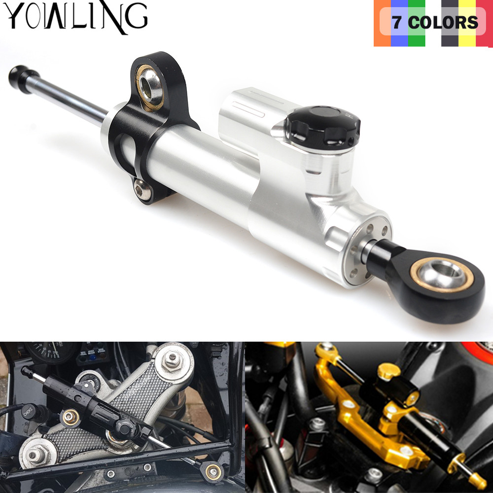 Universal Adjustable Motorcycle Steering Damper Stabilizer Adjustable For Benelli BN302 TNT 600 BJ600GS KTM Kawasaki Suzuki MT07 new motorcycle steering damper stabilizer motorcycle steering damper motorcycle damper for suzuki gsxr250 k6 k8 06 07 08 09 10