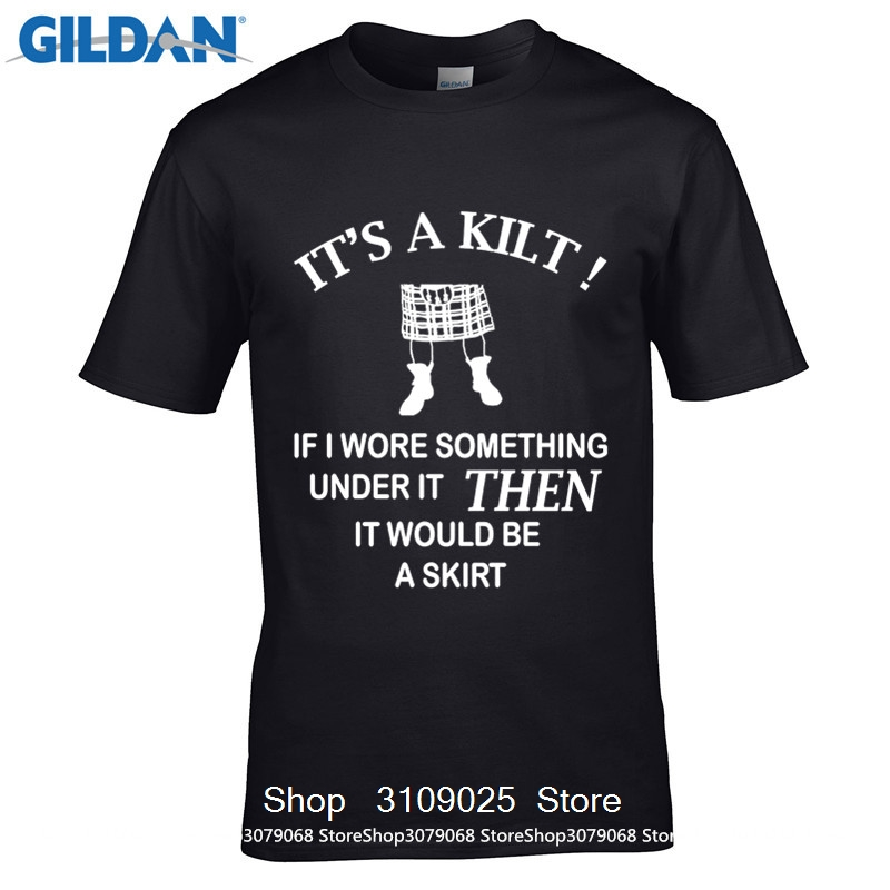 GILDAN DIY Style mens t shirts 100% Cotton Geek Family Top Tee Mens Kilt Wearers T Shirt Funny Gift Idea For Scottish Men