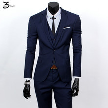 fashion male quality slim high-grade cotton business BLAZER/Men groom dress suit three-piece/jackets