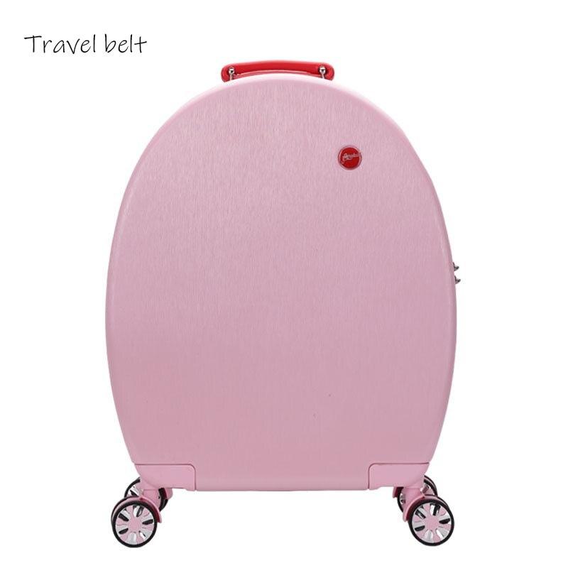 Może siedzieć kobiety koreański Spinner Rolling przechowalnia podróż 20 cal o dużej pojemności modne torby podróżne hasło kabina walizka koła w Walizka na kółkach od Bagaże i torby na  Grupa 2