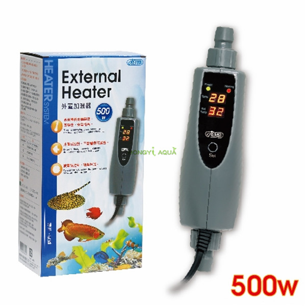 1 piece ISTA 150W 300W 500W aquarium external heater fish tank warmer liquid crystal digital display