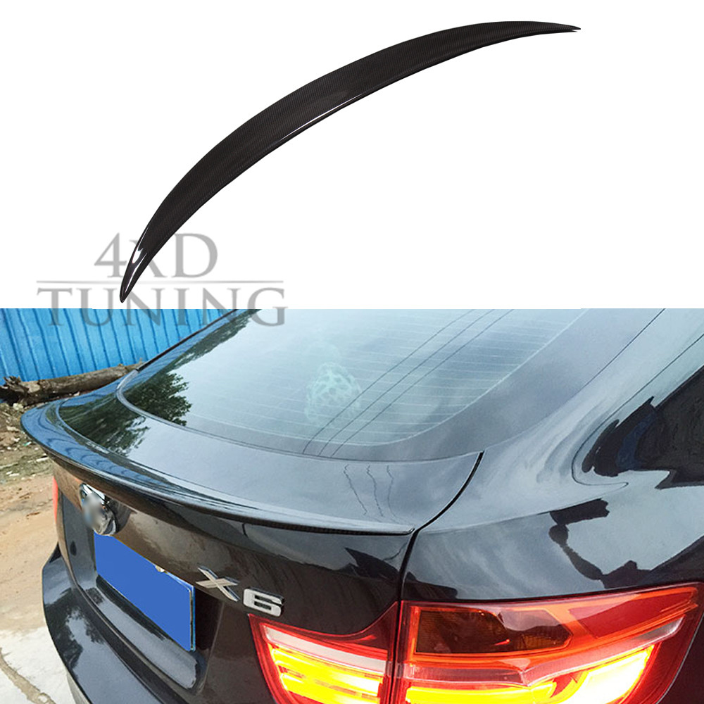 For BMW X6 E71 M Performance Carbon Fiber Rear Spoiler  2008 2009 2010 2011 2012 2013 paint abs car rear wing trunk lip spoiler for nissan qashqai 2008 2009 2010 2011 2012 2013 fast by ems