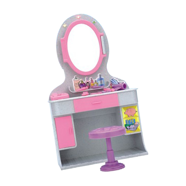 1 6 Dresser Chair Mirror For Barbie Dollhouse Bedroom Furniture Kit