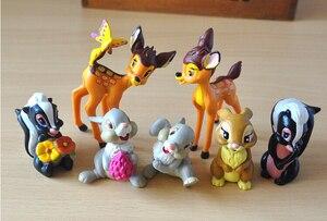 Image 3 - 7 шт./лот Классические игрушки из ПВХ в виде животных, модели оленя, куклы, фигурки героев фильма, игрушки, игрушки для детей
