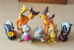 Image 3 - 7pcs/lot Movie Classic Animals PVC Model Toys Deer Dolls  Action Figures Toys Juguetes Brinquedos for Kids