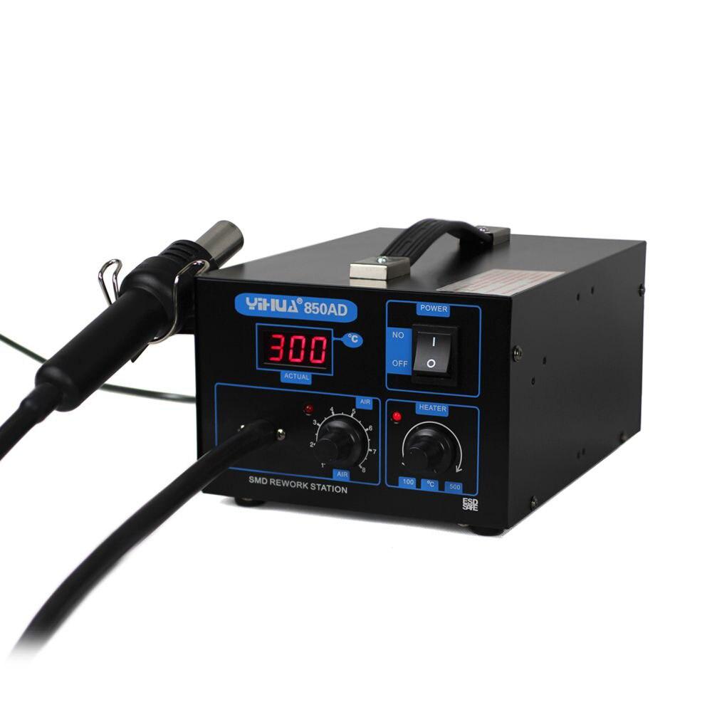 550 w 220 v température 100-450 celsius YIHUA 850AD station de pistolet à air chaud station de soudage SMD station de pistolet à air chaud