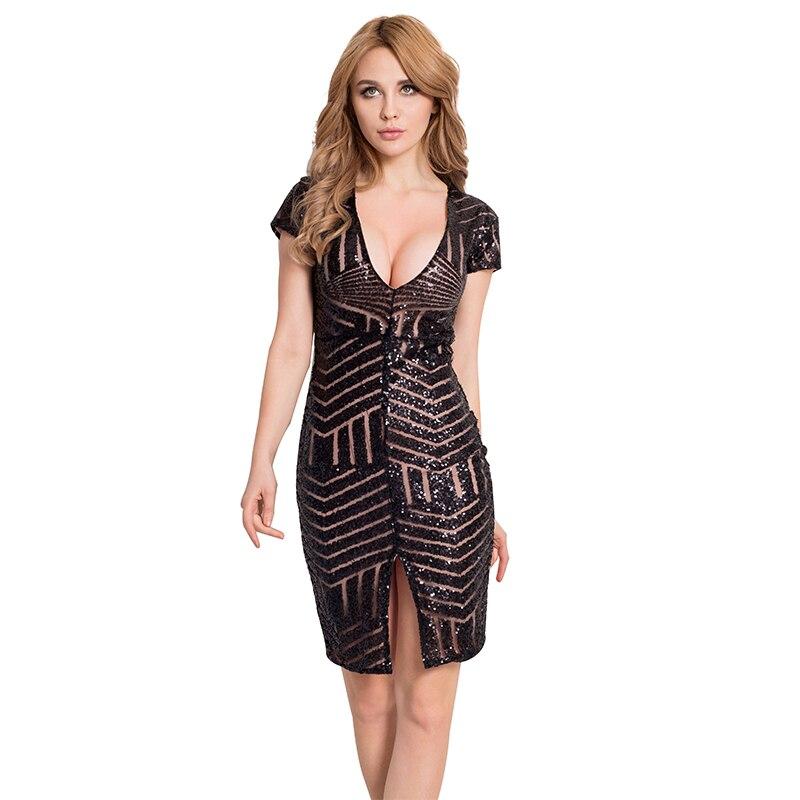 Black sequin lurex dress