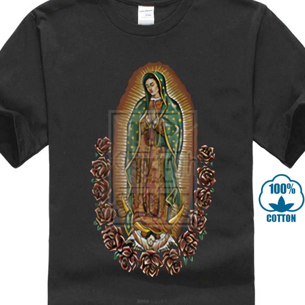 0f78b6a5f New 2017 Fashion Mens T Shirts Men'S The Madonna Our Lady Of Guadalupe  Virgin Mary Religious