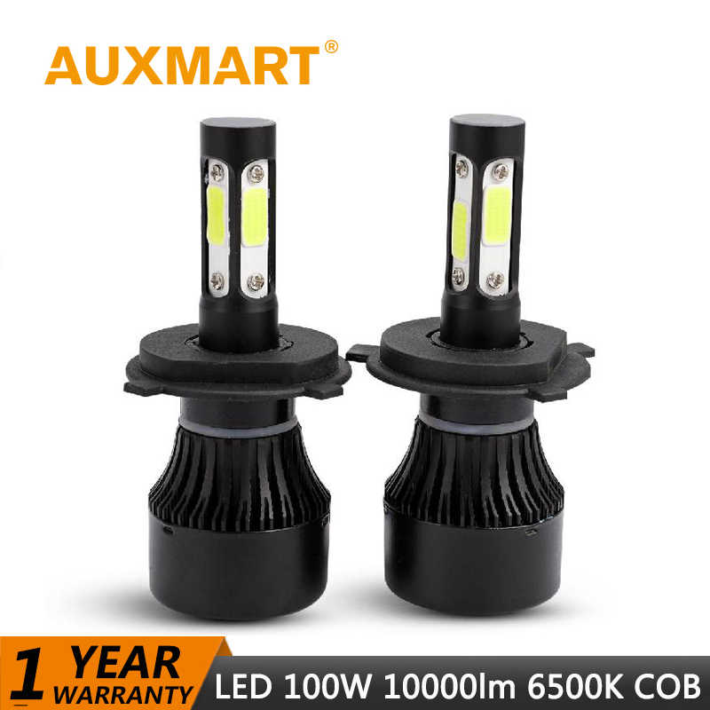 Auxmart H7 H4 H11 LED Healight Bulb HB3 9005 HB4 9006 H13 LED Lamp Auto 100W 10000lm 6500K LED Headlamp kit Car Light H 7 11 4