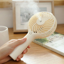 Water Mist Fan Rechargeable Misting Humidifier Fans 3colors Spraying Powerful cooling Fan Office Desktop Mobile Power Ventilador