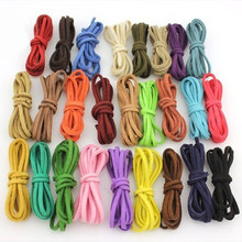3 Meters Flat Faux Suede Korean Velvet Leather Cord DIY Rope Thread Jewelry Making Decorative Handicrafts Accessories 8mm
