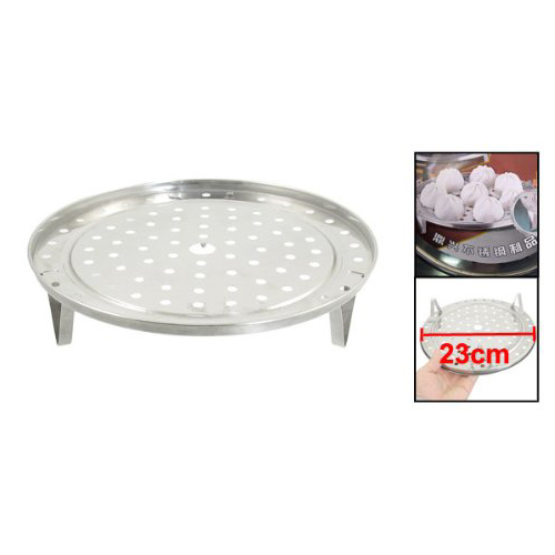 Round Stainless Steel Steaming Rack W Stand 23cm Diameter SODIAL